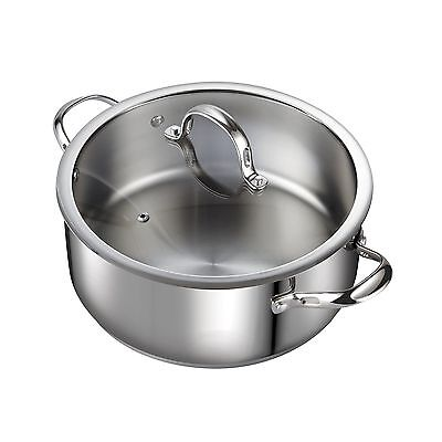 Cooks Standard Classic 02518 7 quart Stainless Steel Dutch Oven Casserole... New
