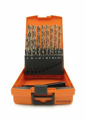 Accusize - M35 HSS+5% Cobalt Metric Drill Set 1 to 10mm by 0.5mm in Stron... New