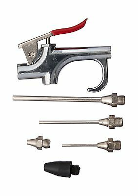 Neiko 31112 Air Blow Gun Set with 5 Interchangeable Nozzles and Over-Size... New