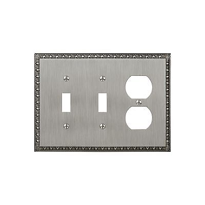 Amerelle Amertac 90TTDAN Egg and Dart Antique Nickel Cast Wall Plate 2 To... New