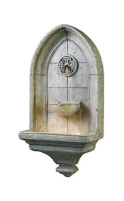 Kenroy Home 53265CT Canterbury Indoor/Outdoor Wall Fountain in Cement Fin... New