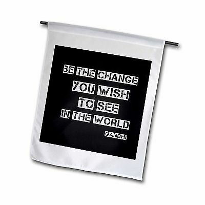 3dRose fl_164666_1 Chalkboard Black and White be The Change Gandhi Quote ... New