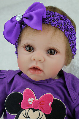 """STOCK IN UK 22"""" Reborn Baby Doll Realistic Newborn Doll Baby Toys Doll"""