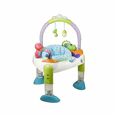 Evenflo Exersaucer Fold and Go D is for Dino White/ Green/ Blue New