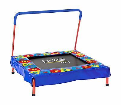 "Pure Fun Kids Preschool Jumper: 36"" Mini Trampoline with Handrail Youth A... New"