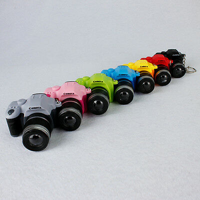 NEW  LED Luminous Keychains Camera With Flash Light Lucky Cute Charm