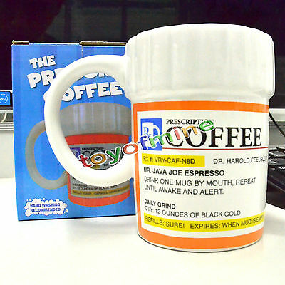The Prescription Coffee Mug BigMouth Inc Doctor Pill Bottle Funny Gift Cup