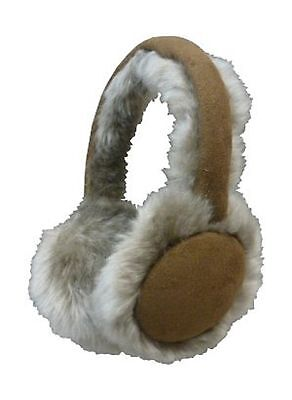 N'Ice Caps Girls and Adults Adjustable Suede Faux Mink Lined Earmuffs New