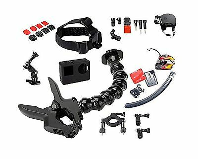 Jaws Flex Clamp with 22 Pcs for All in One Gopro Accessories Kit Bundle B... New