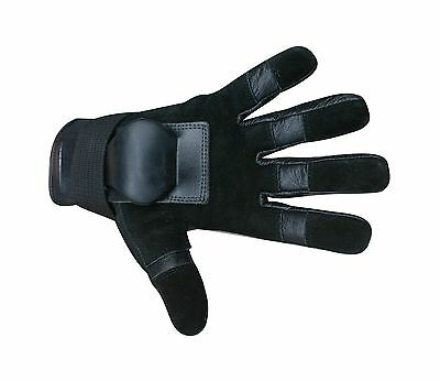 Hillbilly Wrist Guard Full Finger Gloves (Black Large) New