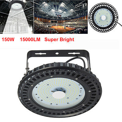 150W UFO LED High Bay Light Factory Warehouse Industrial Gym Shed Lighting 6500K