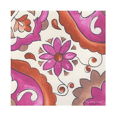 Thirstystone Occasions Trivet Flower Square Multicolor New