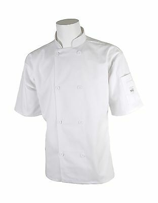 Mercer Culinary M60013WHL Millennia Unisex Short Sleeve Cook Jacket with ... New