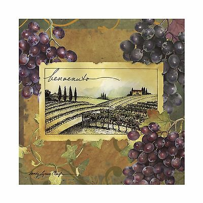 Thirstystone Occasions Trivet Vineyard Welcome Multicolor New