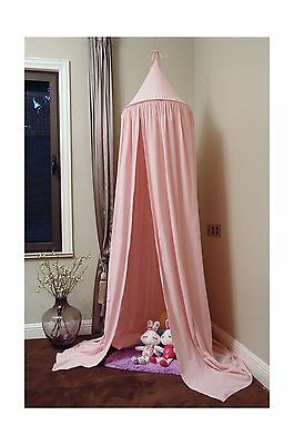 NEW Pericross Bed Canopy for Baby Cotton Linen Height 220cm (Pink) Pink New