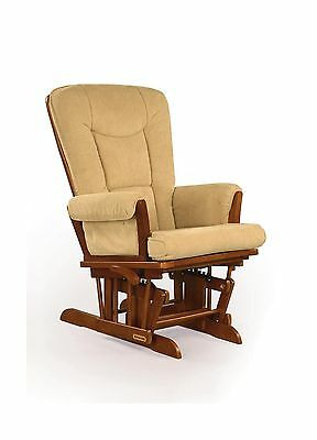 Shermag Glider Rocker Chablis with Camel Micro Fabric New