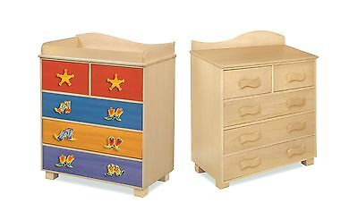 Room Magic RM15-CB Natural 5 Drawer Chest Cowboy New