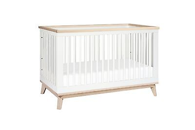 babyletto Scoot 3-in-1 Convertible Crib White/Washed Natural New