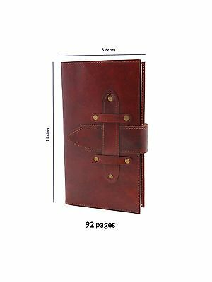 Store Indya Leather Travel Diary Unlined Journal (9 x 5) Personal Organiz... New