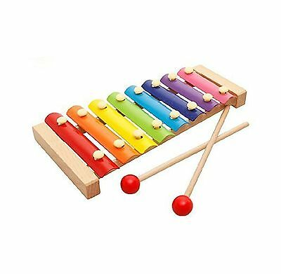 OFKP Kids 8 Key Toddler Glockenspiel Xylophone New