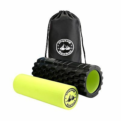 Reehut 2-in-1 Foam Roller. Trigger Point massage for Painful Tight muscle... New