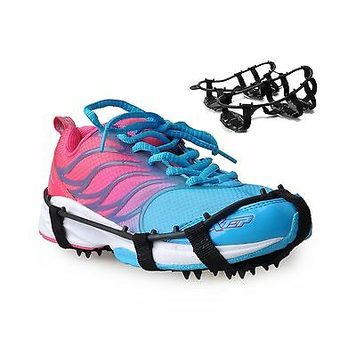ThinkTop 18 Teeth Snow Traction Cleats Antislip Snow Ice Climbing Spikes ... New