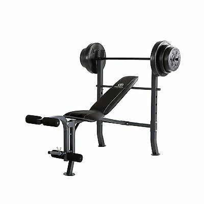 Marcy Diamond Mid-Width Bench and 100-Pound Weight Set New