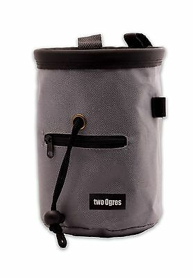 two Ogres Essential-Z Chalk Bag with Belt and Zippered Pocket (Grey) for ... New