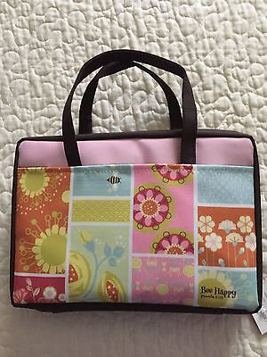 Bee Happy Canvas Bible Cover by Enesco-NEW-Large