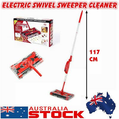 Rechargeable Electric Cordless Swivel 90D Sweeper Brush Mop Vacuum Cleaner Power