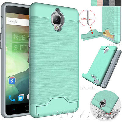 Phone Protective Case for One Plus 3/1+3T Phone Stand Shockproof Card Slot Cover