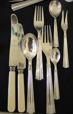 Vintage Danish Carl Christensen Silver Plate Margit Cutlery set 6 person