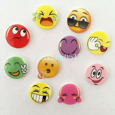 New Cute expression MIX 20pcs 16mm Round acrylic Flatback child Manual works DIY