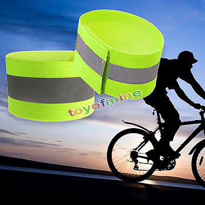Extendable Safety Reflective Arm Band Belt Strap Outdoor Sports Night Running