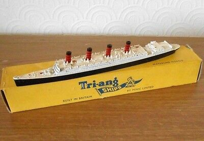 Vintage Triang Minic RMS Aquitania Liner M705 diecast model with box 1960`s (2)