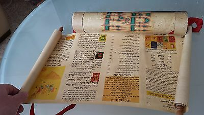 Vintage Sefer Torah Scroll Holder Case Israel Jewish Hebrew