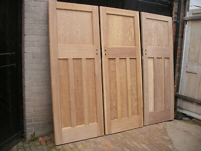 Reclaimed 1930s 1 over 3 panel stripped pitch pine doors.