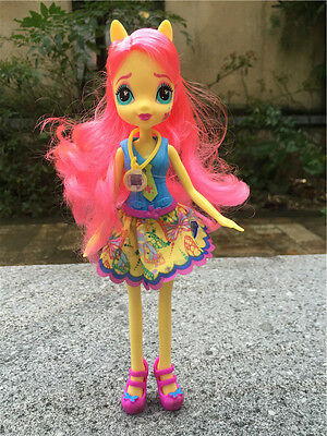 """My Little Pony Equestria Girls 9"""" Friendship Games Fluttershy Doll New Loose"""
