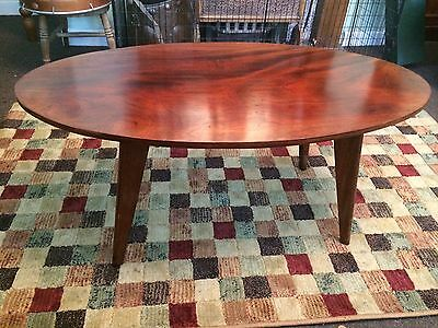 Vintage Mid Century Oval Coffee Table Solid Wood Great Condition