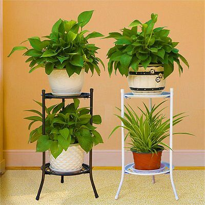 Eleganet Home Garden Deco Metal Plant Stand Flower Pot Shelf Rack Holder Shelves