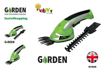NEW Garden Cordless Grass Shear & Hedge Trimmer Hand Held Shear LED Indicator UK