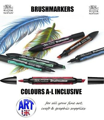 Winsor & Newton graphic artists BRUSH MARKER PEN drawing colour Letraset