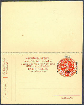 Irak - British Occupation 1918, Uncirculated Postal Stationary with respose card