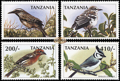 Tanzania. 1997. Birds from Around the World (MNH OG) set of 4 stamps