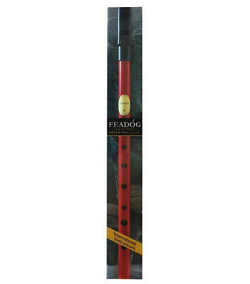 Irish Feadog Red Tin Whistle Key D