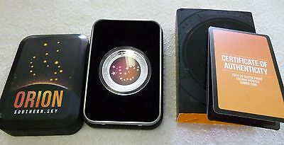 2014 $5 Silver Proof 1 Oz Silver Orion Proof Domed Coloured Coin Australian Mint