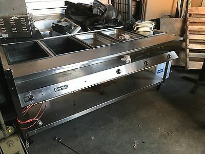 Servewell 4 bay electric steam table