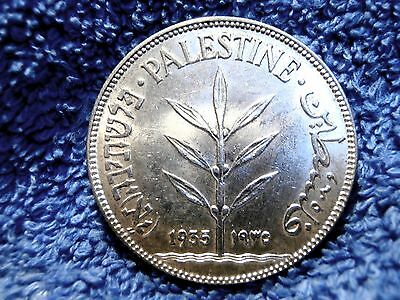 Palestine: 1935 Scarce Silver 100 Mils  About Uncirculated++++ To Uncirculated!!