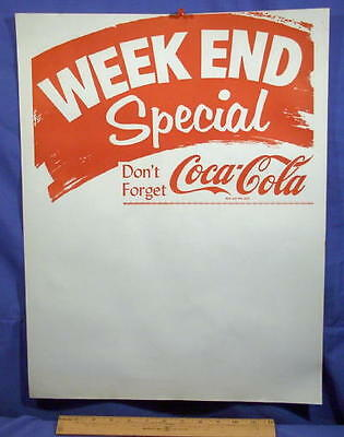 1960's  Coke Grocery Store Sign