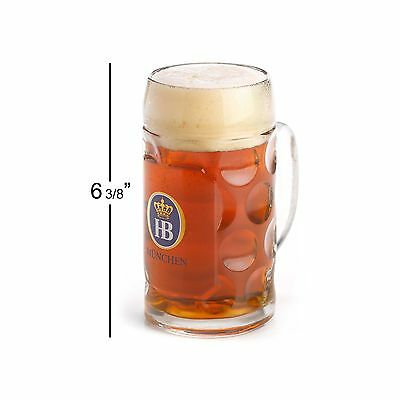 0.5 Liter HB Hofbrauhaus Munchen Dimpled Glass Beer Stein New